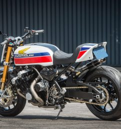 arno s managed to take the already monstrous honda cbx into even wilder territory without losing an ounce of its retro appeal we d ask for a test ride if  [ 1250 x 834 Pixel ]
