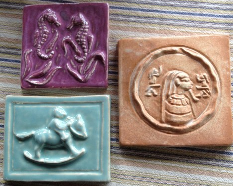Tiles from art exhibit