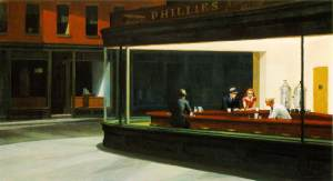 Edward Hopper's famous 1942 painting belongs to the Art Institute of Chicago