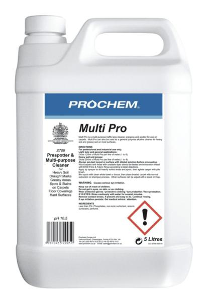 MultiPro multi purpose carpet cleaner 5L