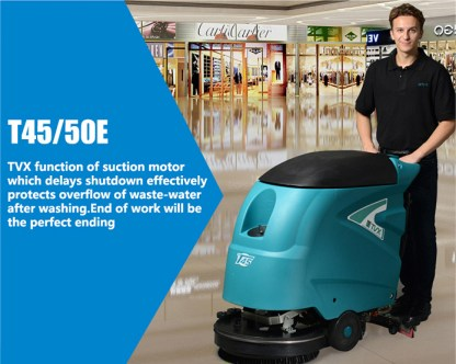 TVX T45 19″ Brush, 45 Litre Battery Operated Scrubber Dryer – T45/50B