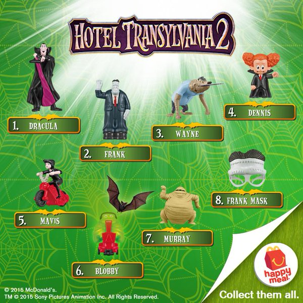 Hotel Transylvania 2 Happy Meal Toys 2015