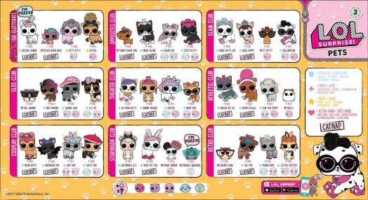 LOL Surprise Pet Series 3 Checklist List Collector Guide