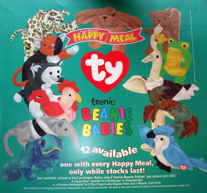 372c802282c McDonald s Happy Meal Toys 1999 – Teenie Beanie Babies – Kids Time