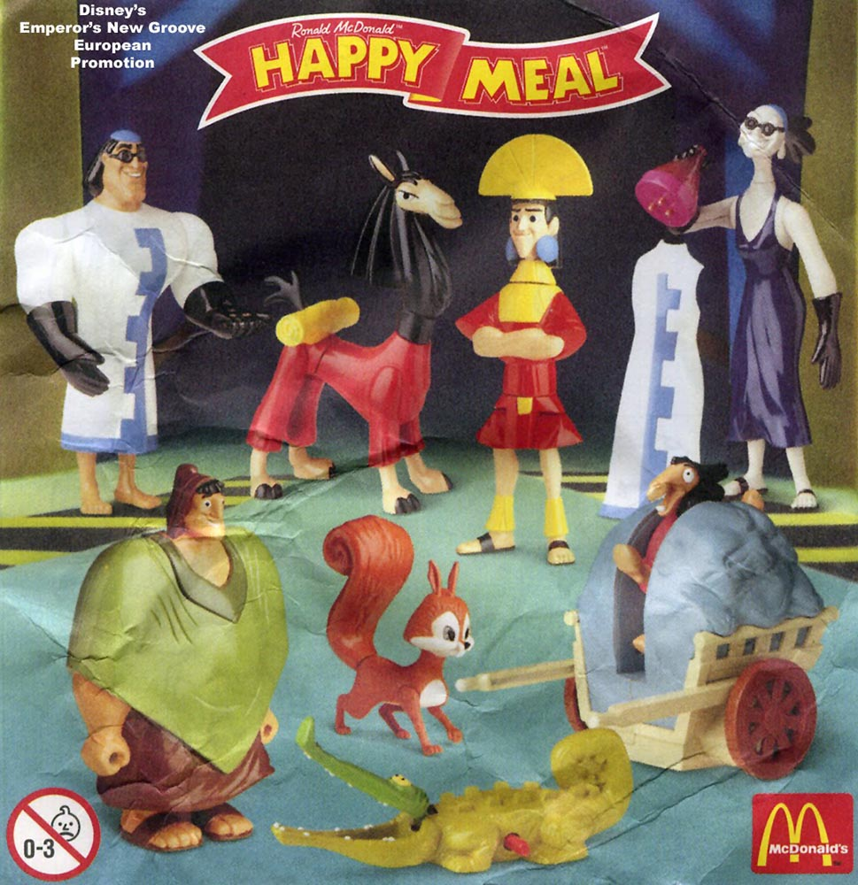 Toys From Mcdonald S Happy Meals : Mcdonald s happy meal toys the emperor new groove