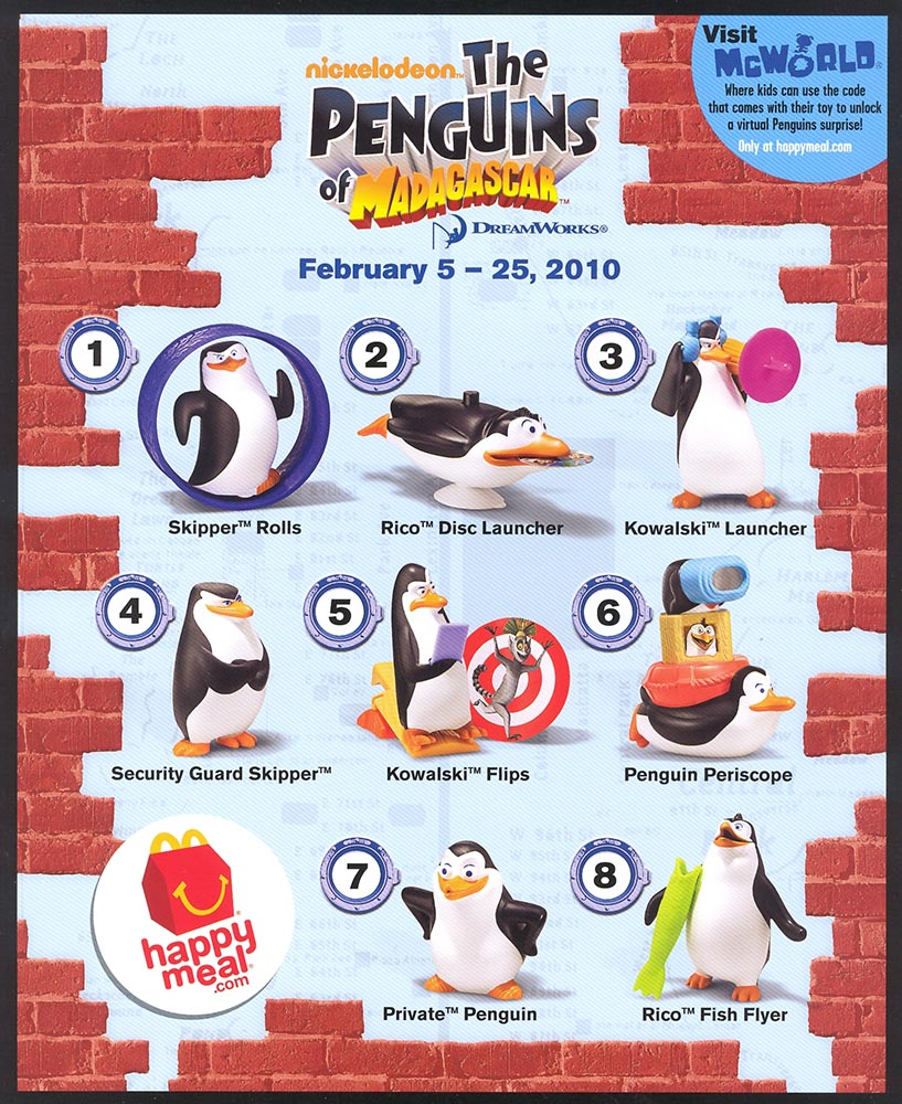 McDonald's Happy Meal Toys February 2010 – Penguins of