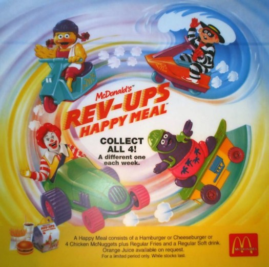 McDonald's Happy Meal Toys 1994 – Rev-Ups – Kids Time
