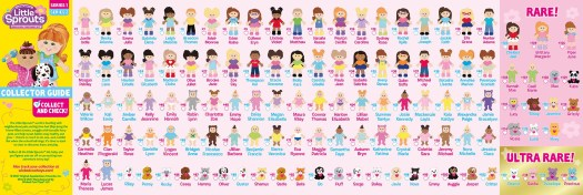Cabbage Patch Kids Little Sprouts Friends Series 1-2 Collectors Guide List of Dolls Characters Checklist