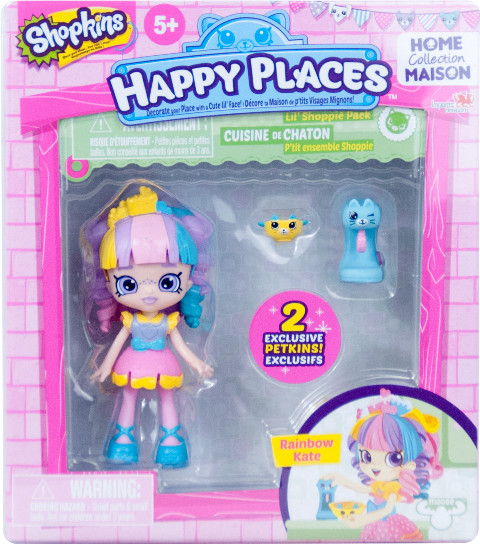 Shopkins Happy Places Season 1 - Lil' Shoppie Pack Rainbow Kate