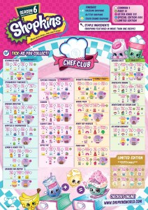 Shopkins Season 6 Collector Guide List Checklist