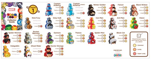 Marvel Tsum Tsum Season 1 Checklist