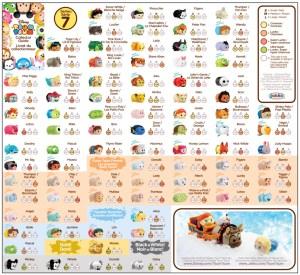 Tsum Tsum Series 7 Collector's Guide List Checklist