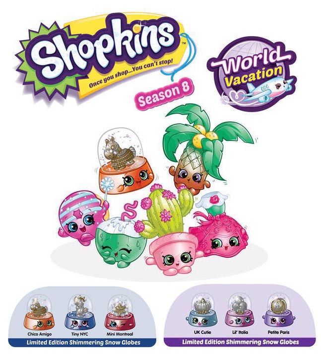 Shopkins Season 8 Limited Edition Shimmering Snow Globes
