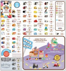 Tsum Tsum Series 9 Collector's Guide List Checklist