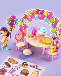 party-popteenies-series-1-Rainbow Unicorn Party Surprise Box Playset with Confetti toys