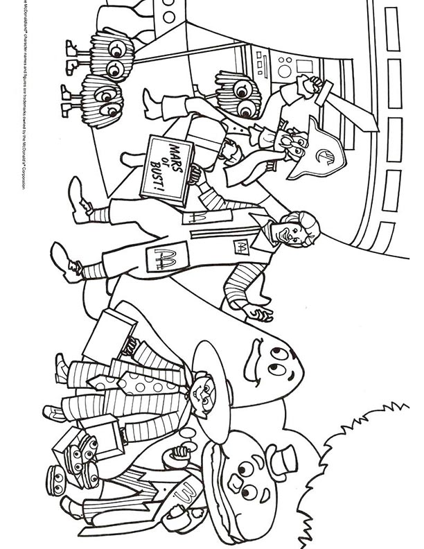 Mcdonalds Happy Meal Coloring Page And Activities Sheet Ronald