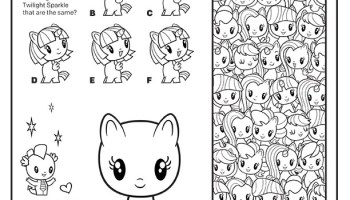 Mcdonalds Happy Meal Coloring Page And Activities Sheet My Little