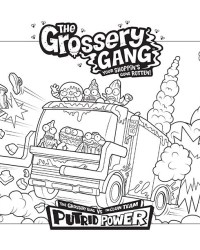The Grossery Gang Series 3 Coloring Sheets Pages Kids Time