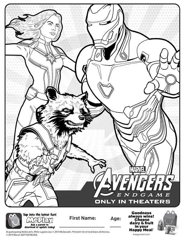 Avengers Endgame Free Coloring Pages - Super Kins Author