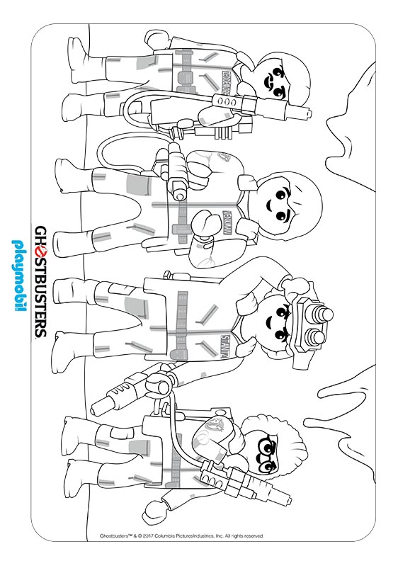 Playmobil Ghostbusters Coloring Sheet 05 Kids Time
