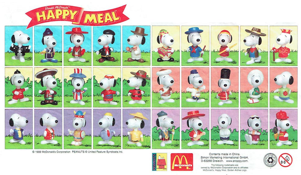 McDonald's Happy Meal Toys 1999 – Peanuts Snoopy – Kids Time