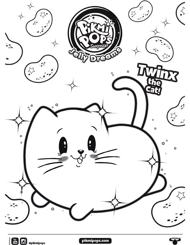 Pikmi Pops Surprise Season 3 Jelly Dreams Coloring Sheet