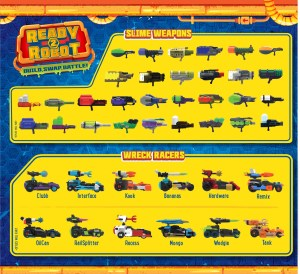 Ready 2 Robot Wreck Racers Series 1 List of Characters Collectors Guide Checklist