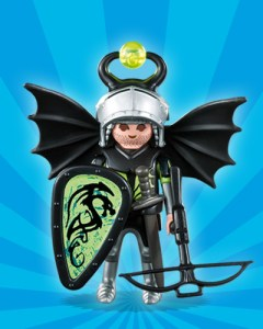 Playmobil Figures Series 1 Boys - Black Dragon Knight
