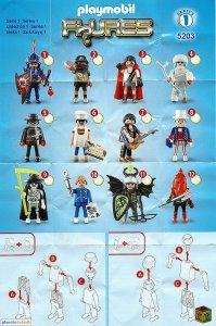 Playmobil Figures Series 1 Boys List Checklist Collector Guide Insert