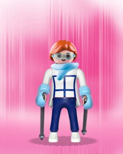 Playmobil Figures Series 1 Girls - Ski Girl