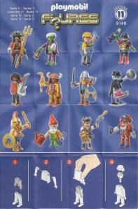 Playmobil Figures Series 11 Boys List Checklist Collector Guide Insert