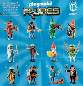 Playmobil Figures Series 15 Boys List Checklist Collector Guide Insert