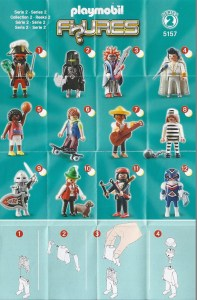 Playmobil Figures Series 2 Boys List Checklist Collector Guide Insert