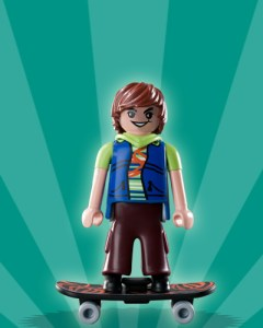 Playmobil Figures Series 2 Boys - Skateboarder