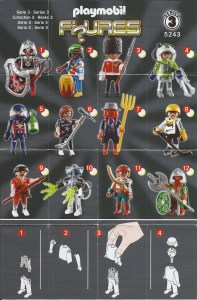 Playmobil Figures Series 3 Boys List Checklist Collector Guide Insert