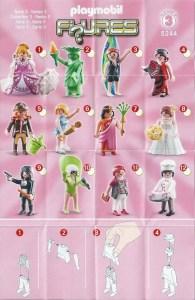 Playmobil Figures Series 3 Girls List Checklist Collector Guide Insert