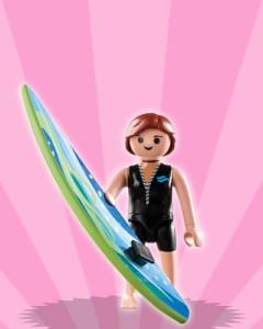 Playmobil Figures Series 3 Girls - Surfer