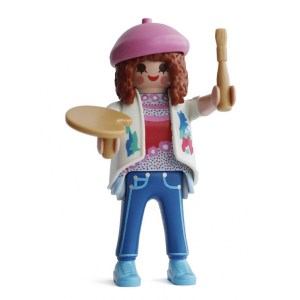 Playmobil Figures Series 15 Girls - Painter