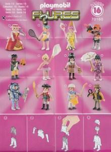Playmobil Figures Series 16 Girls List Checklist Collector Guide Insert