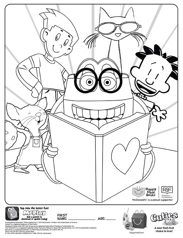 books mcdonalds happy meal coloring activities sheet 01