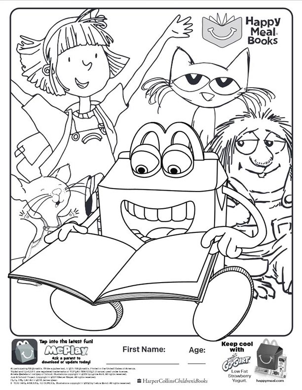books mcdonalds happy meal coloring activities sheet 04