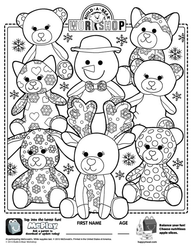 buildabear coloring pages - photo#1