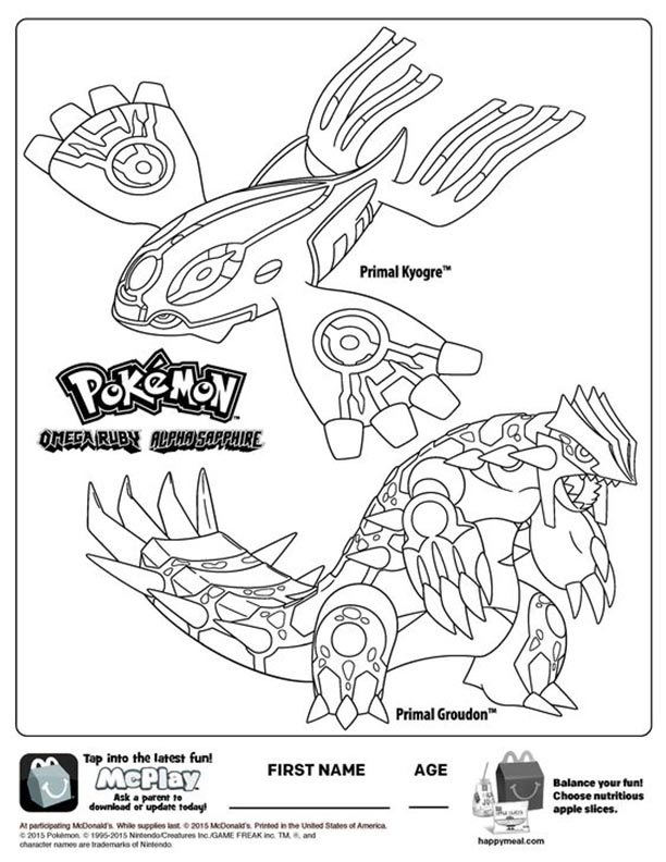 pokemon omega ruby alpha sapphire mcdonalds happy meal