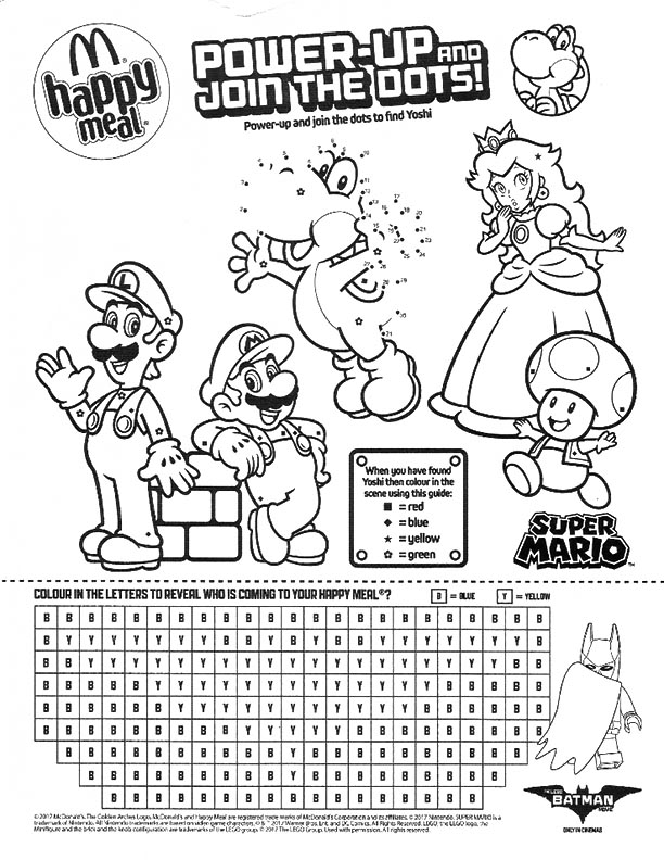 McDonalds Happy Meal Coloring and Activities Sheet
