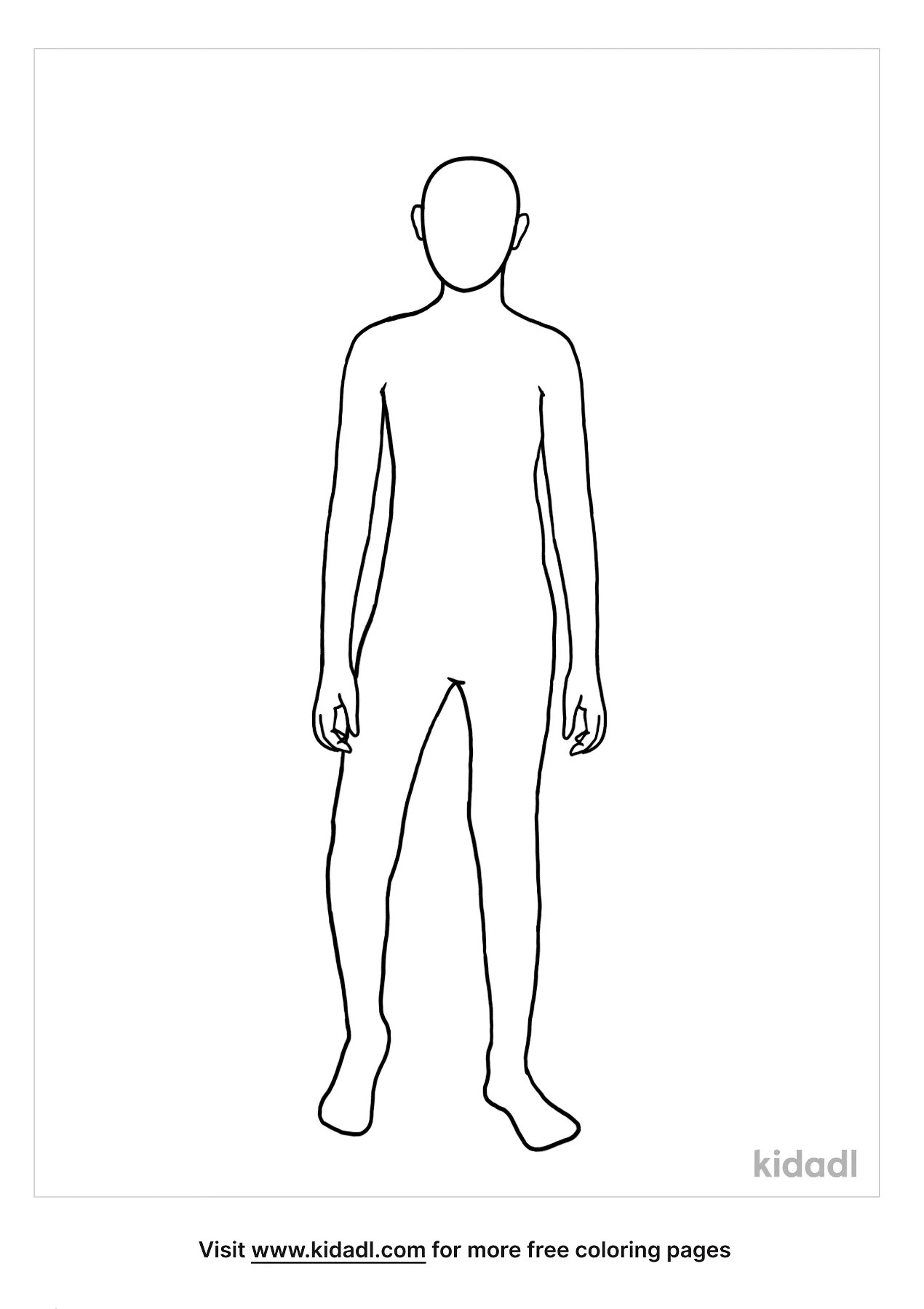 Person Coloring Page : person, coloring, Blank, Person, Coloring, Pages, People, Kidadl