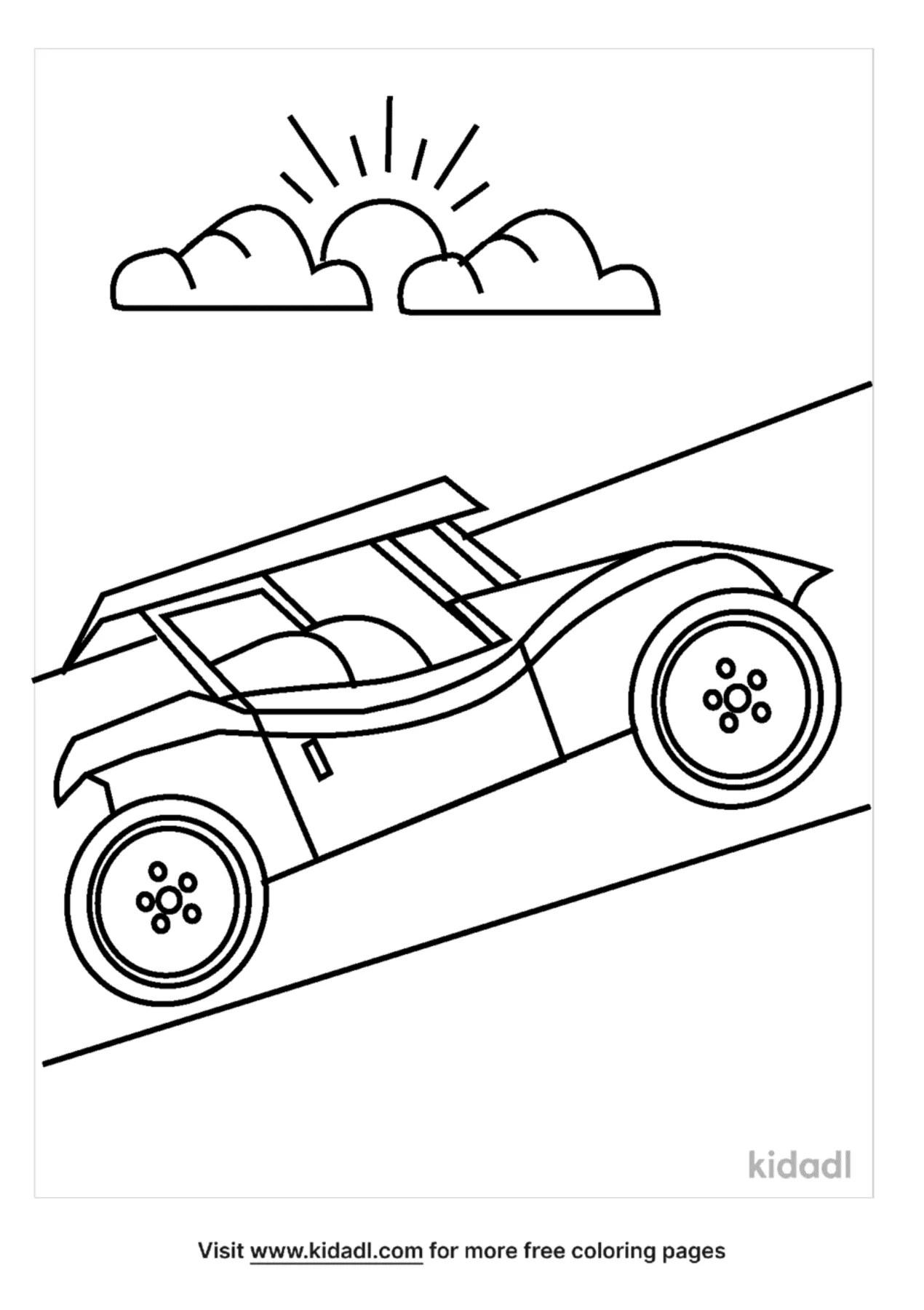 Dune Buggy Coloring Page : buggy, coloring, Buggy, Coloring, Pages, Vehicles, Kidadl
