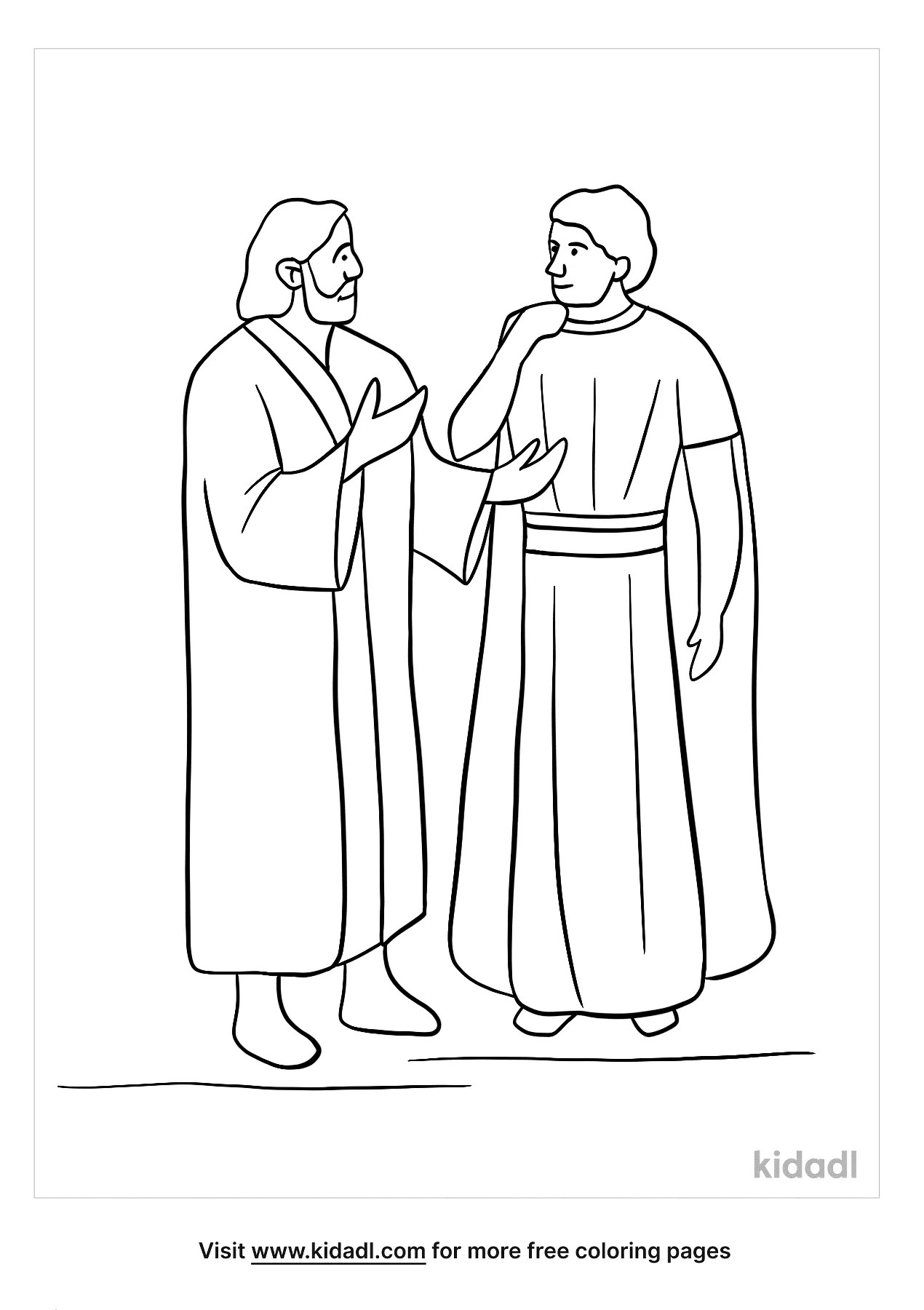 Peter And Cornelius Coloring Page : peter, cornelius, coloring, Peter, Cornelius, Coloring, Pages, Bible, Kidadl