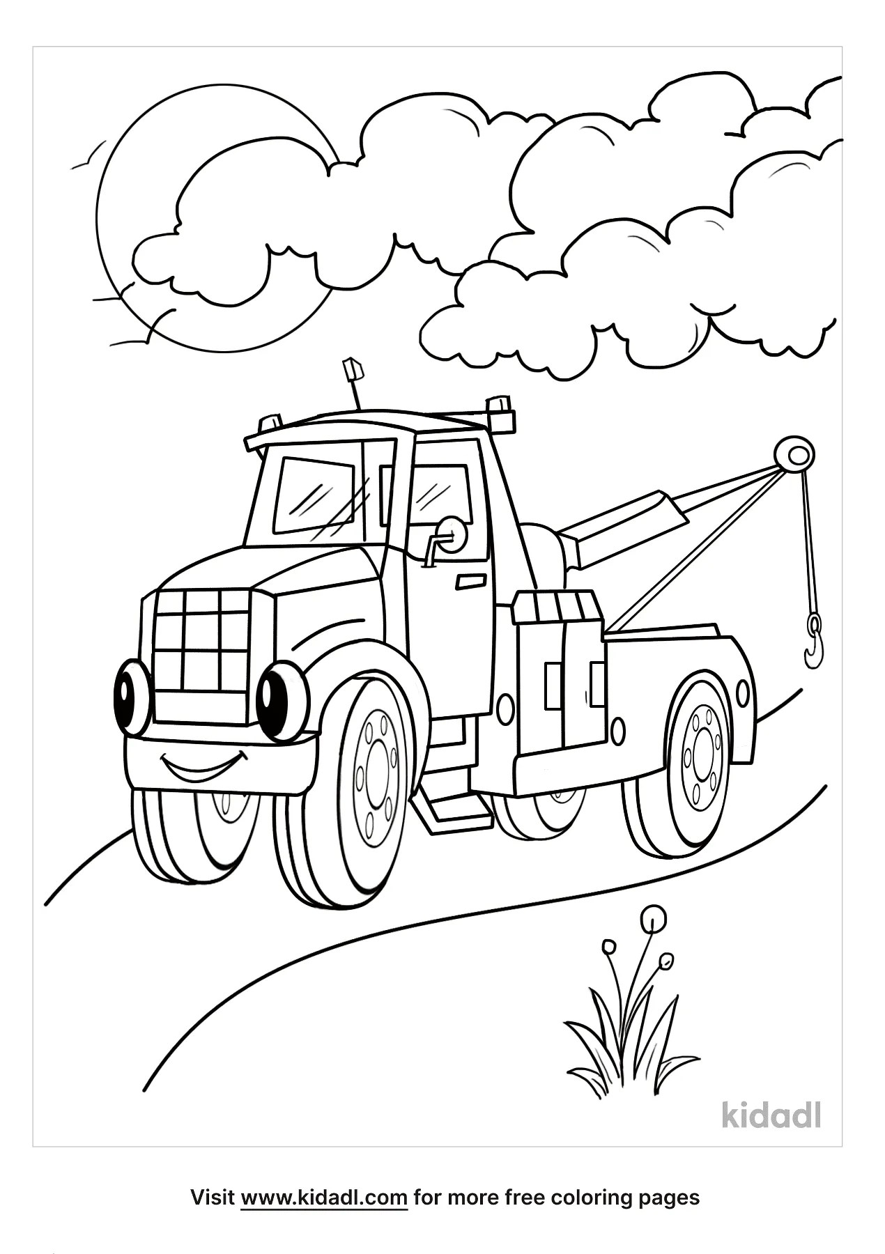 Tow Truck Coloring Page : truck, coloring, Truck, Coloring, Pages, Vehicles, Kidadl