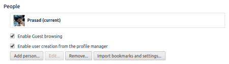 People Manager Google Chrome