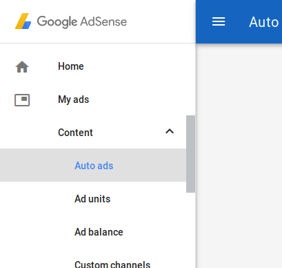 Auto Ads in AdSense